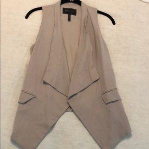 BCBG tan linen vest